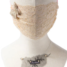 Gia Butterfly Gold Lace Veil Fairymask
