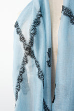 Criss Cross Blue Lace Scarf