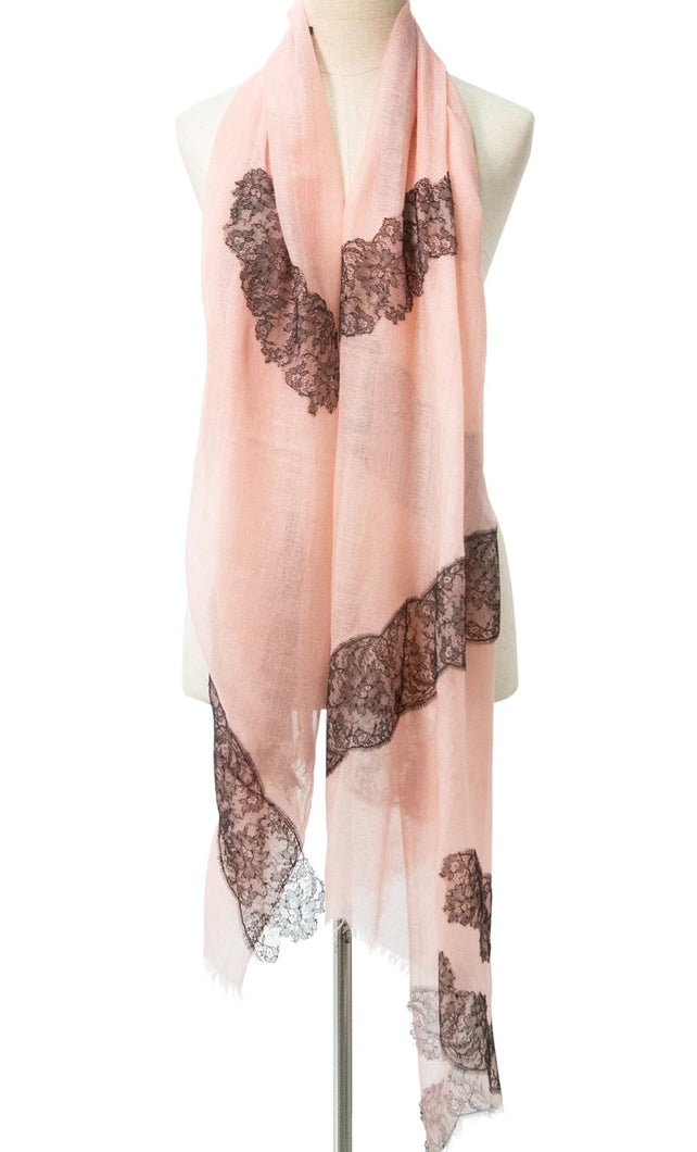 Paradox Pink Cashmere Lace Scarf