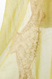 Pearls-en-Bows Lime Yellow Lace Scarf