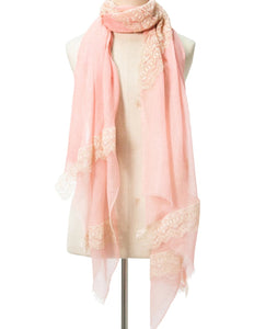 Flow Rose Bud Cashmere Lace Scarf