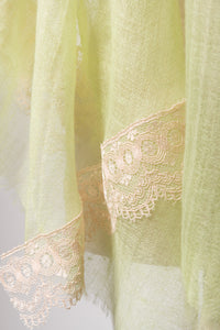 Flow Mint Green Cashmere Lace Scarf