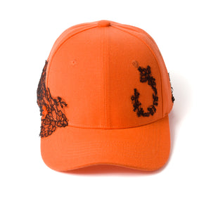 Lace-en-Fleur Orange Fairycap Baseball Cap