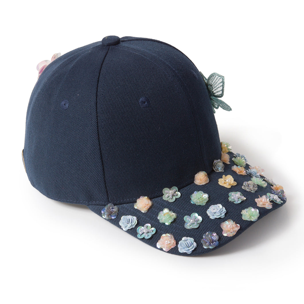 Bloom Bloom Navy Blue Fairycap Baseball Cap