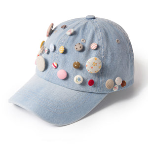 Buttons Up Denim Fairycap Baseball Cap