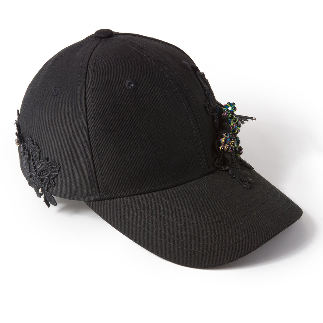 Beads-n-Bobs Black Fairycap Baseball Cap