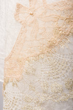 Pearls-en-Bows Cream Cashmere Lace Scarf