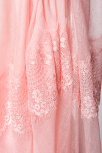 Flow Light Pink Cashmere Lace Scarf