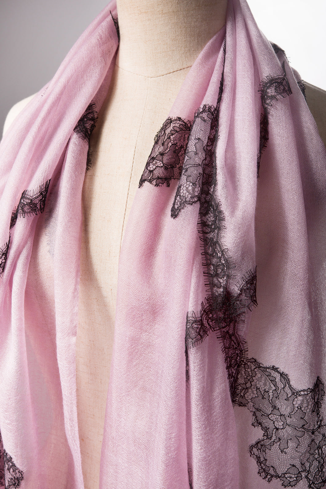 Paradox Lilac Cashmere Lace Scarf