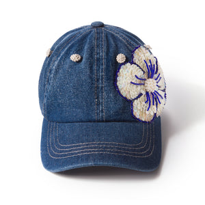 Blue Chic Denim Fairycap Baseball Cap