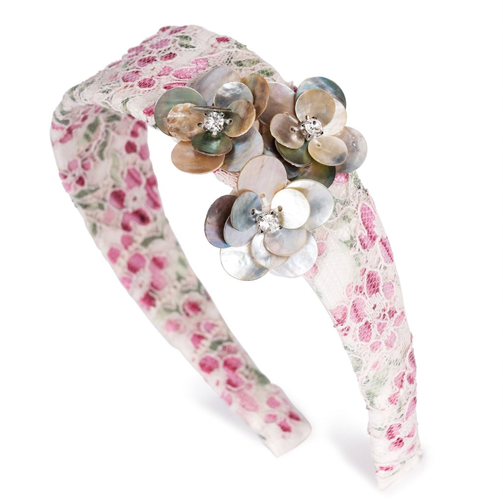 Trio Pearly Blooms Fairyband Headband