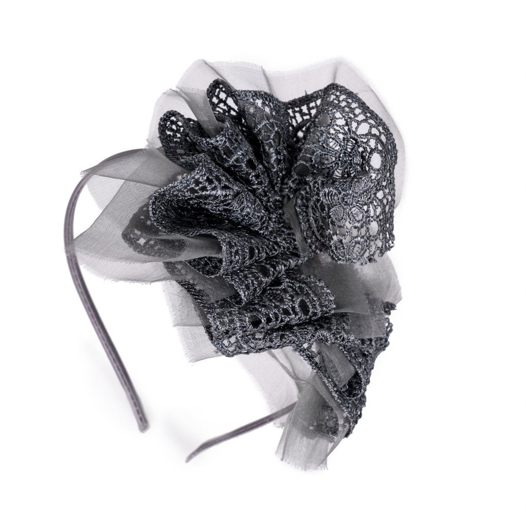 Grey Ruffle Fairyband Headband