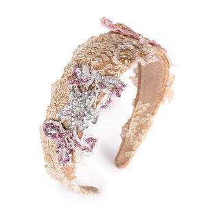 Antique Lace Sequinned Fairyband Headband