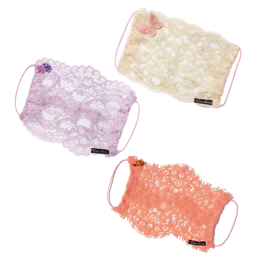 Gia Butterfly Peach, Iris and Lolli Fairymask Trio Set