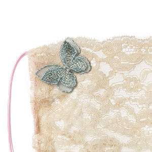 Gia Butterfly Green Lace Veil Fairymask