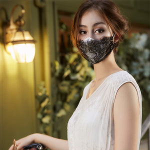 Black Lace Fairymask Trio Set