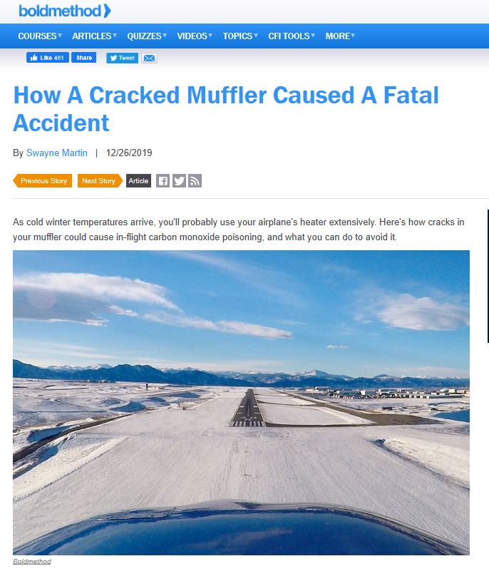 How A Cracked Muffler Caused A Fatal Accident