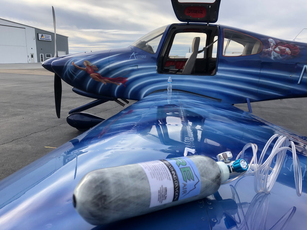 Flying with the 47L Aithre Carbon Fiber Bottle