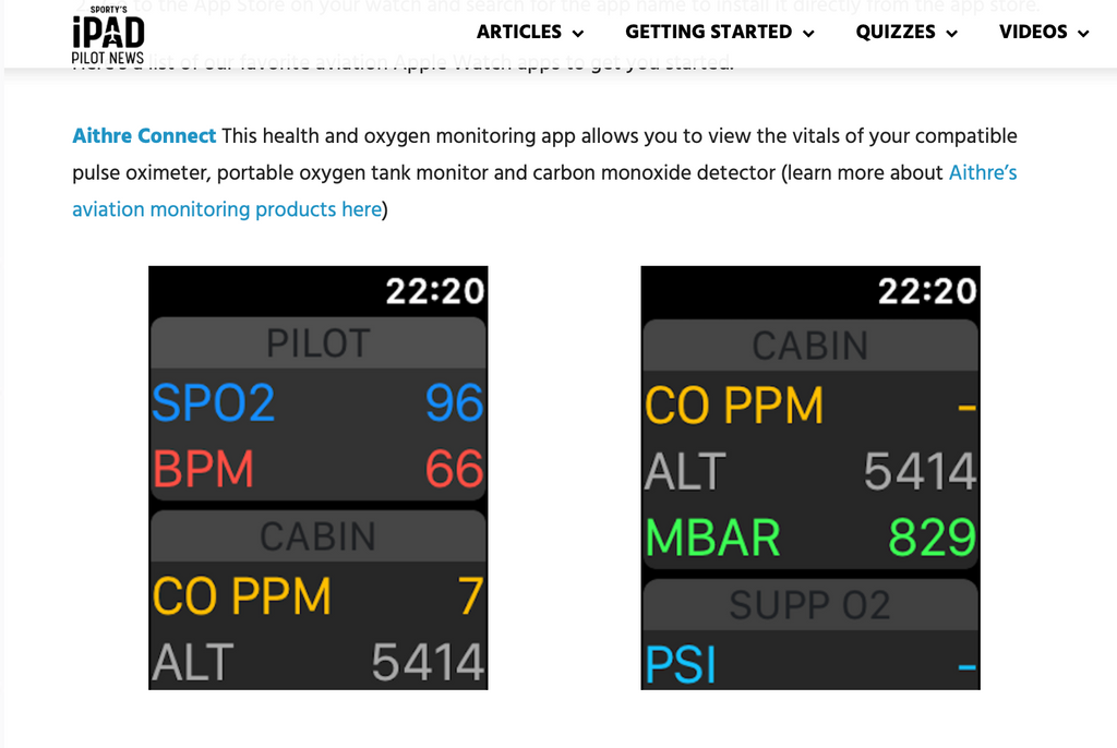 Sporty's iPad Pilot News - Top Aviation Apps for Apple Watch- Featuring Aithre Connect!