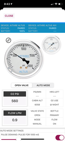 aithre connect app with smart pulse oxygen control
