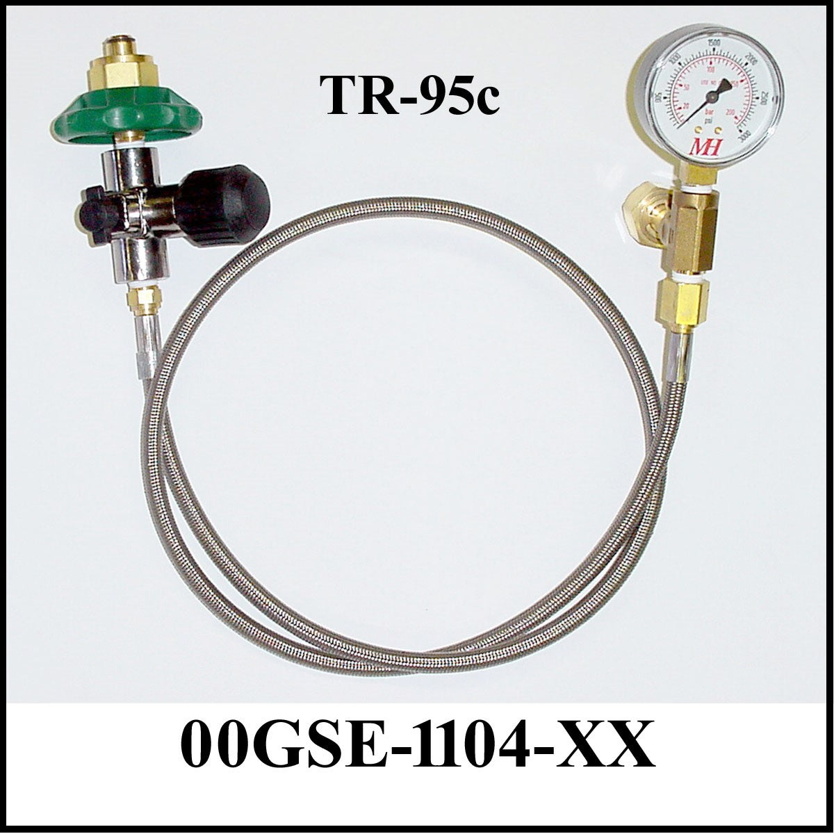 Mountain High Transfilling Hose for Adjustable Flow Regulator Bottles