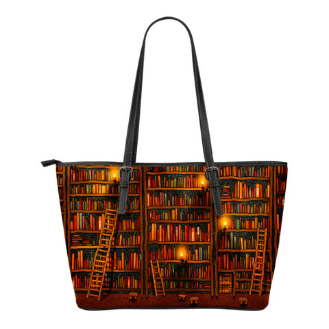 Book Reader Leather Tote Bag V.2