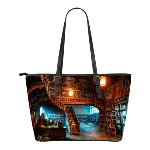 Book Reader Leather Tote Bag V.3