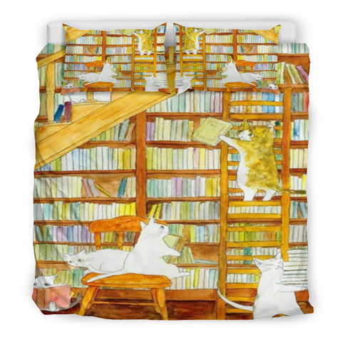 Books and Cats Bedding Set V.3