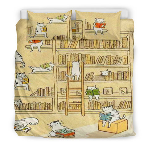 Books and Cats Bedding Set V.1