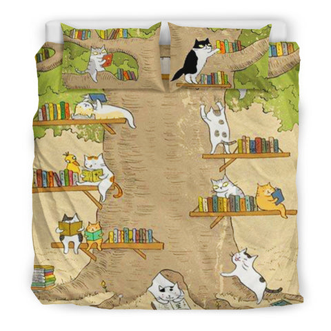 Books and Cats Bedding Set V.2