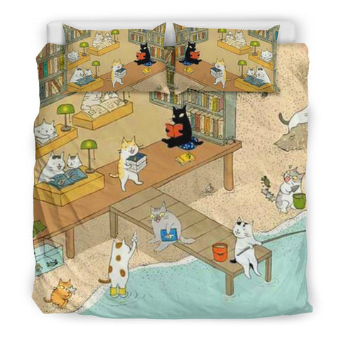 Books and Cats Bedding Set V.4