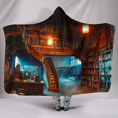 Book Reader Hooded Blanket V.2