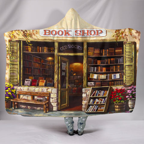 Book Reader Hooded Blanket V.3
