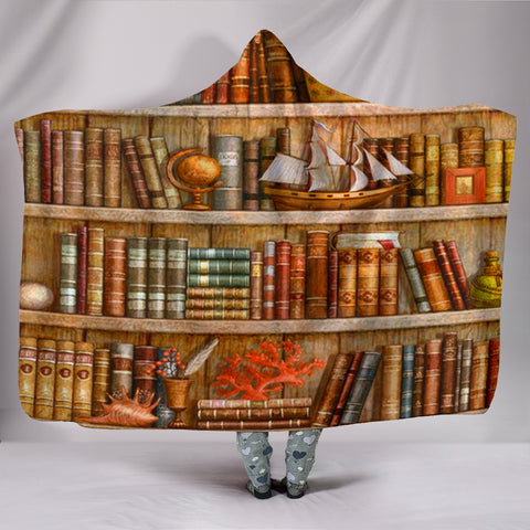 Book Reader Hooded Blanket V.4