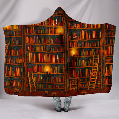 Book Reader Hooded Blanket V.1