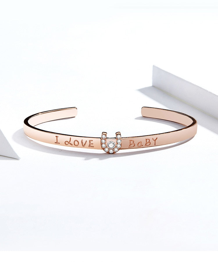 Sterling Silver Rose Gold plated Bangle