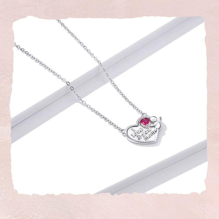 Sterling Silver Heart Shape Necklace
