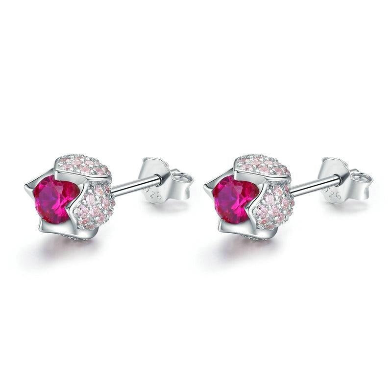 shimmering zirconia sterling silver studs