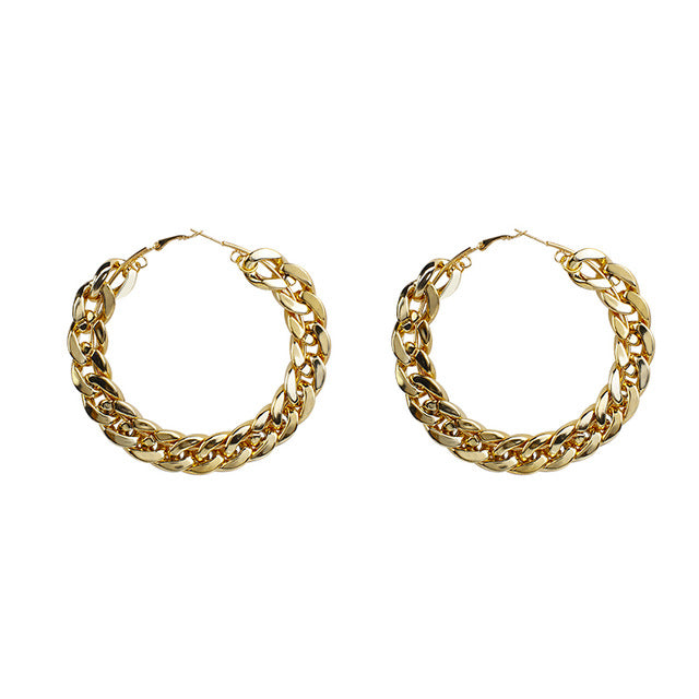 Chunky Chain Hoop Congo Earrings