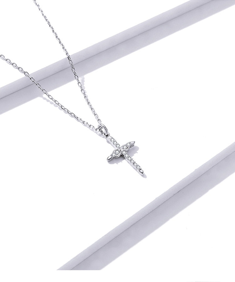 Sterling Silver Cross Of Love Necklace