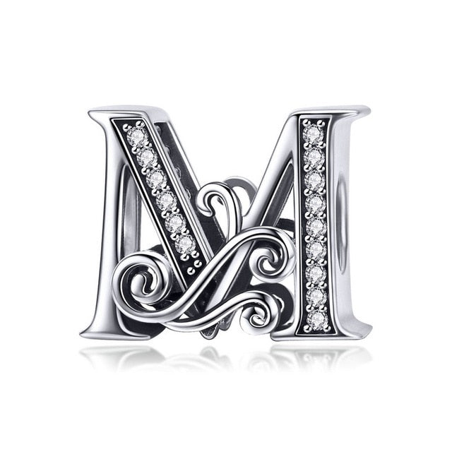 925 A to Z Alphabet Sterling Silver Charms