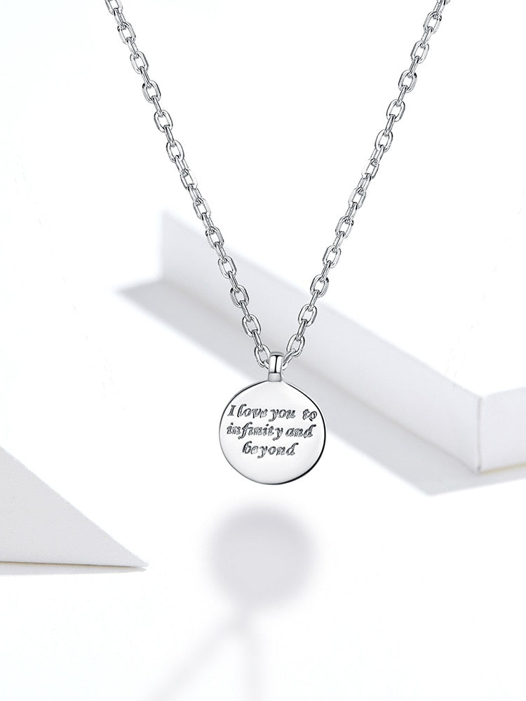 message on pendant necklace, great gift for loved ones