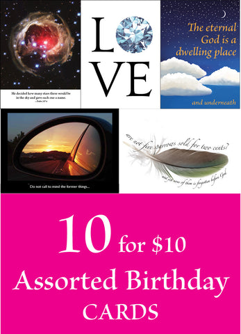 Assorted Birthday Cards (10 for 10)