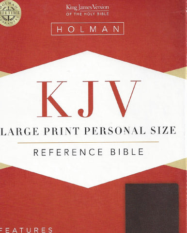 LARGE PRINT PERSONAL SIZE REFERENCE BIBLE - INDEXED