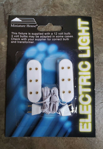 Dollhouse Miniature Screw Base Sockets with Candle Bulbs /& Plug x2 1:12 Scale