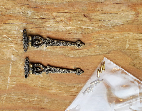 Dollhouse Miniature 2 Drawer Pulls Craftsman Cup Style Antique Bronze 1:12 Scale
