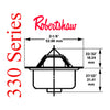 Robertshaw 330 series hi flow balanced sleeve thermostat