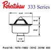 Robertshaw 333 Series hi flow balanced sleeve thermostat
