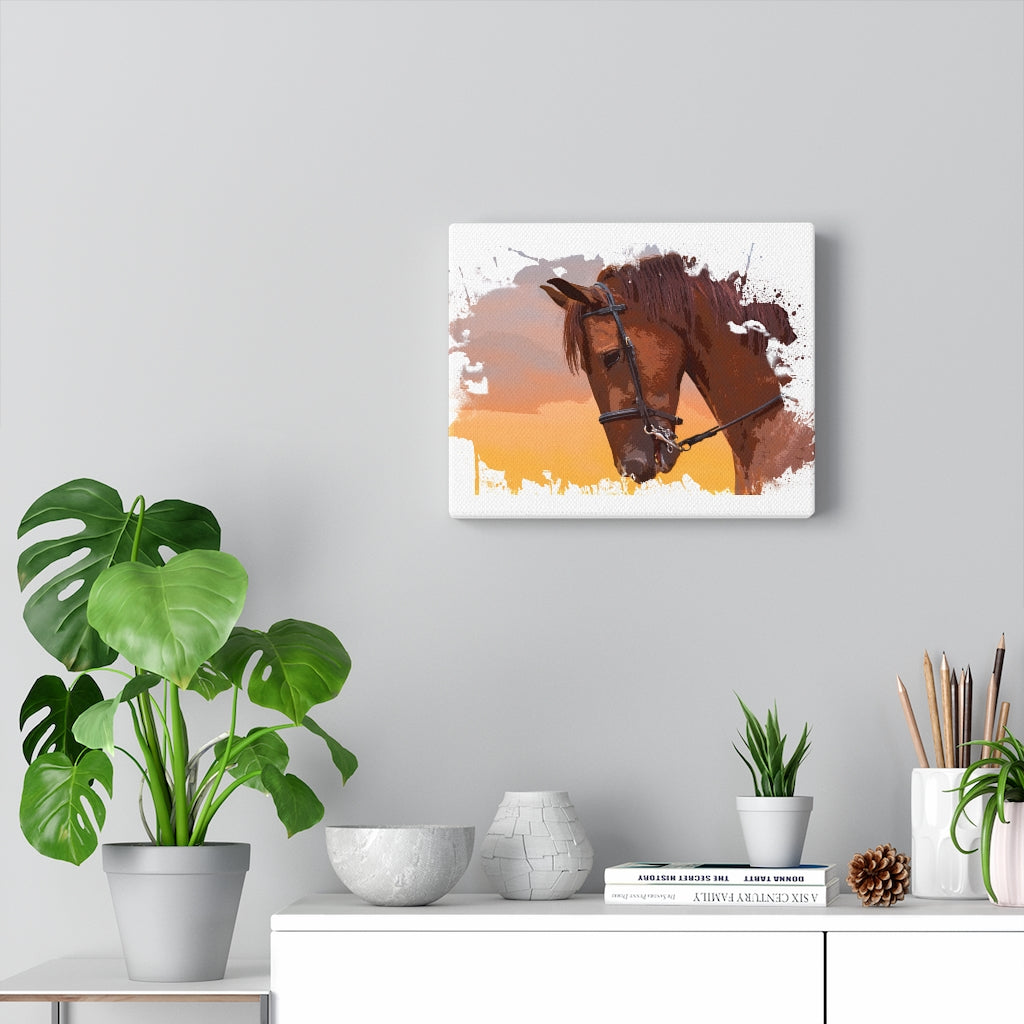 Custom Watercolor Horse Canvas