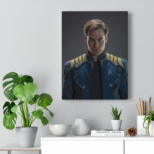 """Captain Kirk Reboots"" Inspired Personalized Canvas"